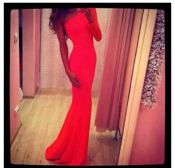 dress maxi dress red dress long dress one sleeve pants pajamas
