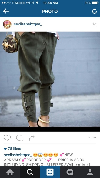 pants tapered army green olive green