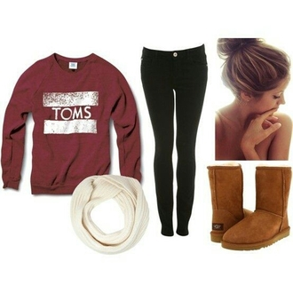 sweater shirt toms