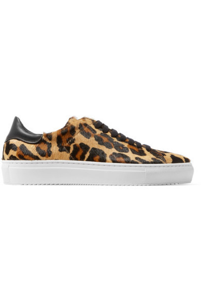 Axel Arigato hair sneakers leather print leopard print shoes