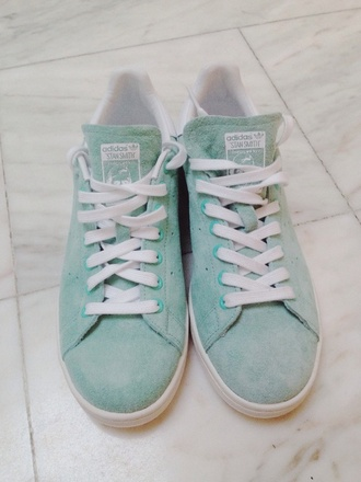 adidas stan smith shoes originals green blue