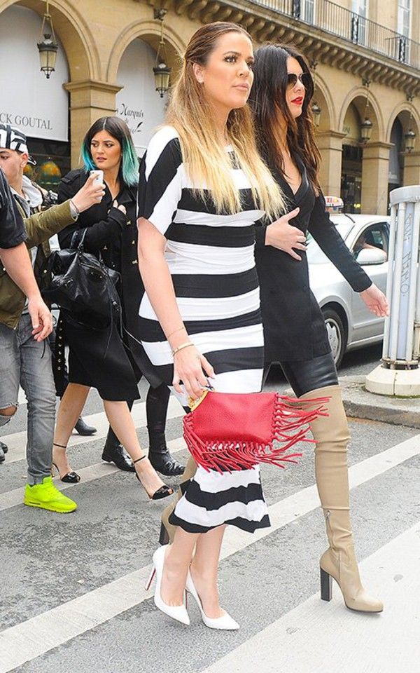 top khloe kardashian skirt shoes