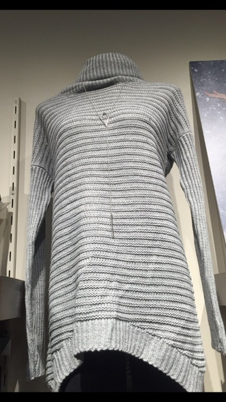 dress sweater dress sweater grey top shirt long grey sweater