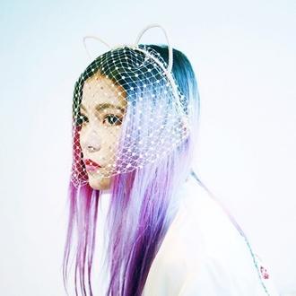 hair accessory neko cat ears kawaii kawaii grunge pastel hair pastel pastel grunge soft grunge net netted japan japanese japanese fashion kawaii girl headband blue pastel hair