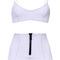 Nicole zip high-waist bikini in lavender by lisa marie fernandez | moda operandi