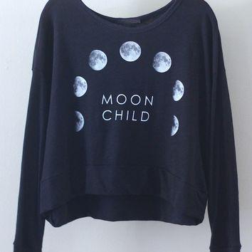 Moon child sweatshirt (more colors)