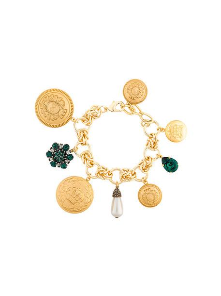 women plastic charm bracelet grey metallic jewels