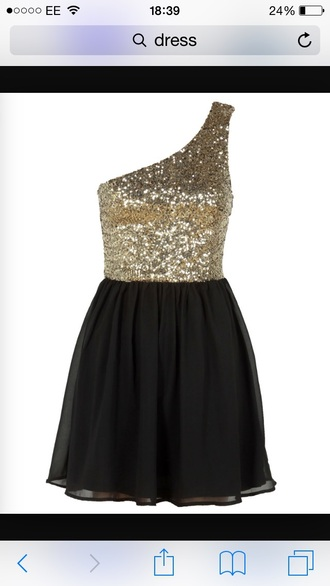 dress gold sparkly black prom