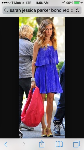 bag red bag sarah jessica parker boho chic