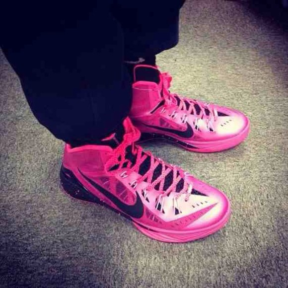 shoes pink shoes nikes nike hyperdunks mens shoes