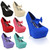 Ladies Womens Party Bow Strap High Heels Platforms Wedges Pumps Court Shoes Size | eBay