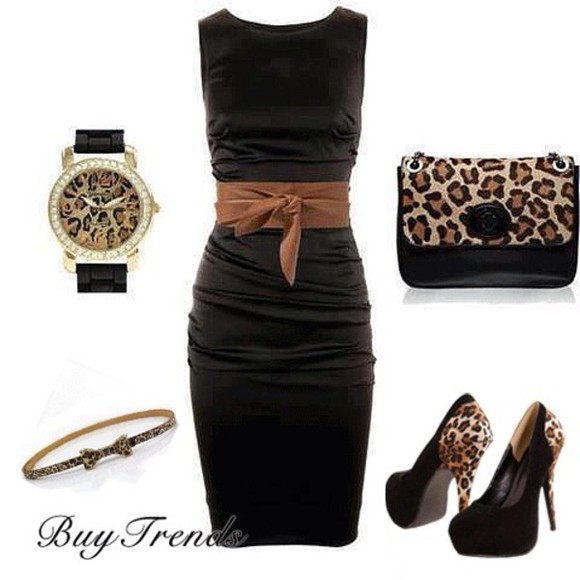 jewels watch leo leopard print