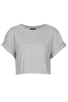 Roll Back Crop Tee- Topshop