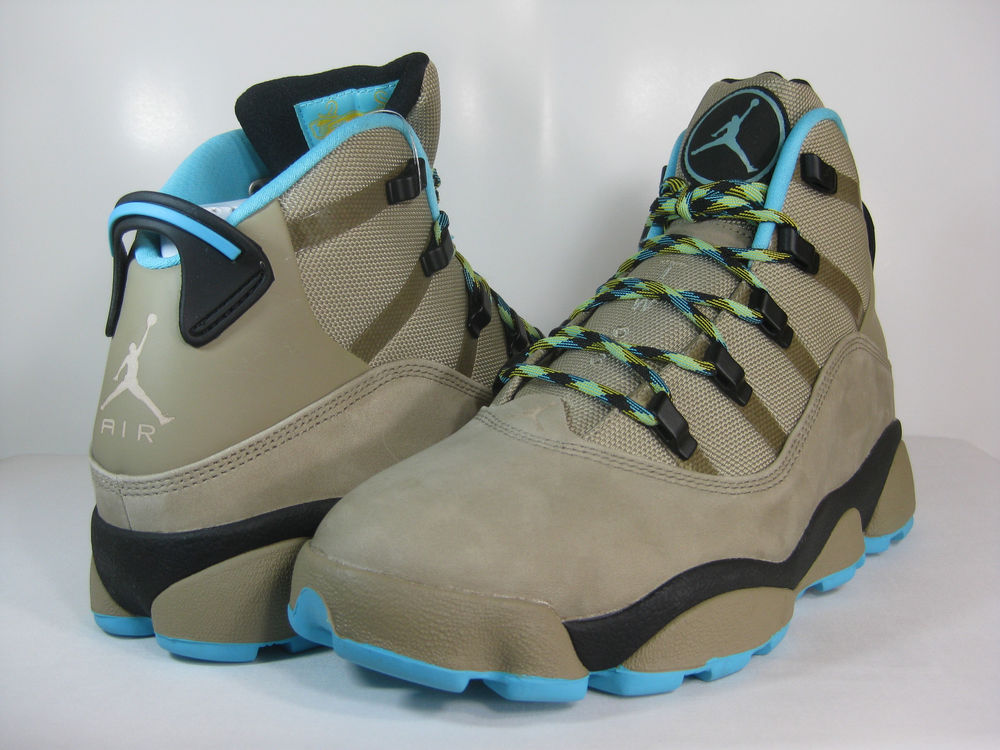 Jordan Winterized 6 Rings Khaki Gamma Blue Black Maize 414845 204 Mens Boots | eBay