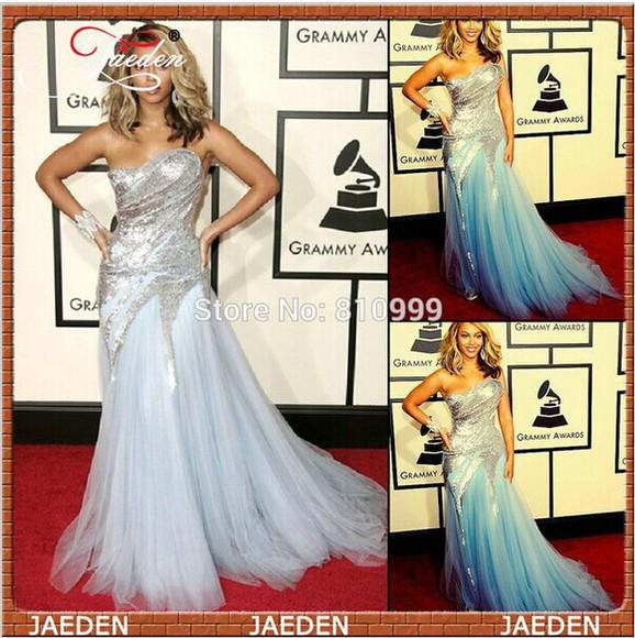 celebrity style beyonce dress red carpet dress shining evening dress