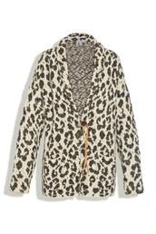 leopard print,sweater