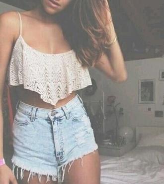 top clothes summer crop tops shorts vintage