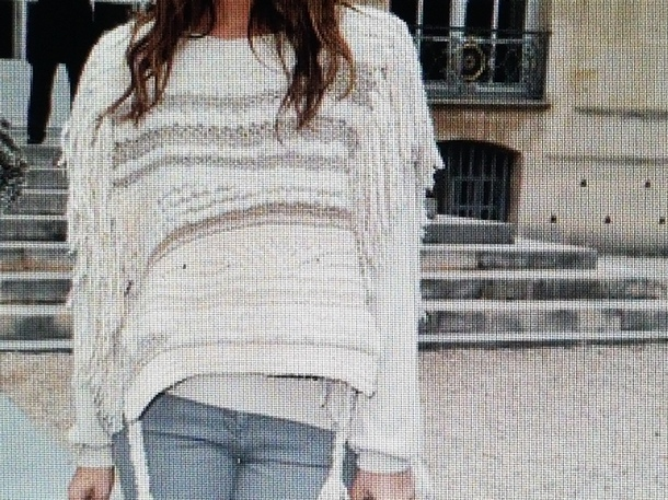 sweater cream fringe sweater fall