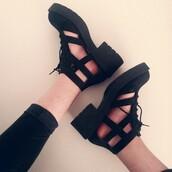 shoes,cut offs,cut out shoes,black