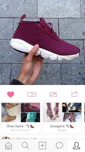 shoes burgundy jordans