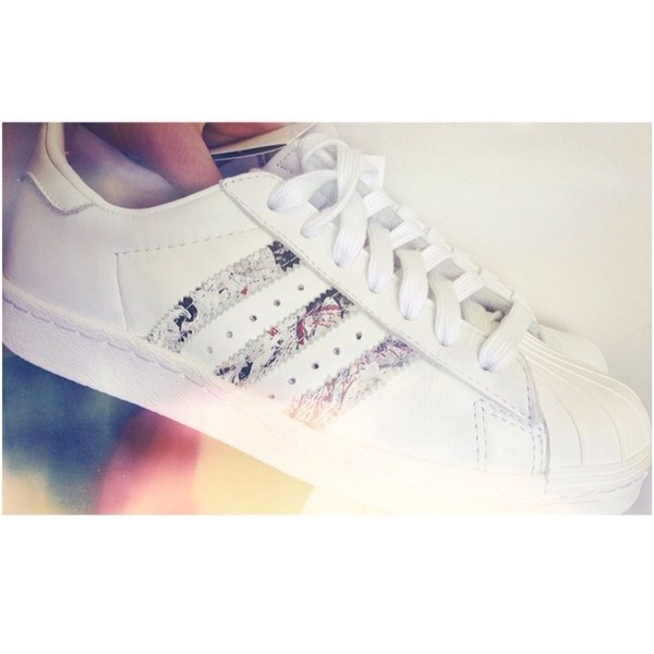 shoes adidas sneakers white white sneakers vintage leather oriental print
