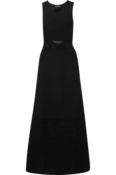 tabula rasa dress maxi dress maxi open black knit