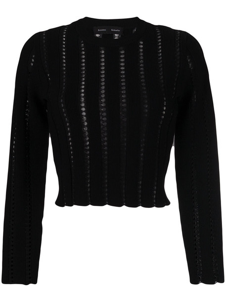 Proenza Schouler sweater cropped sweater embroidered cropped women black