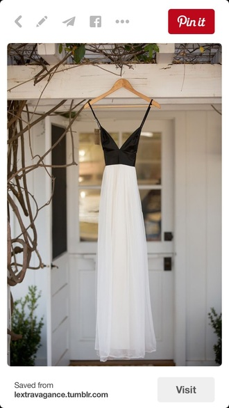 dress classy prom dress black and white dress elegant dress