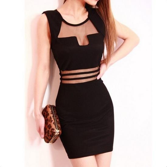 Sexy backless mini dress