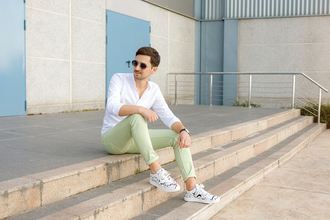 the mysterious girl blogger shirt pants shoes jewels sunglasses menswear mens pants mens shirt mens shoes