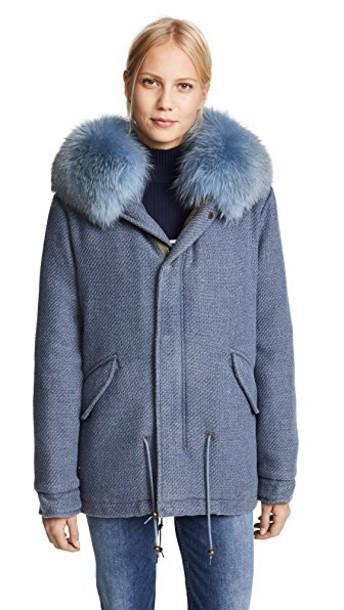 Mr & Mrs Italy parka mini wool london coat