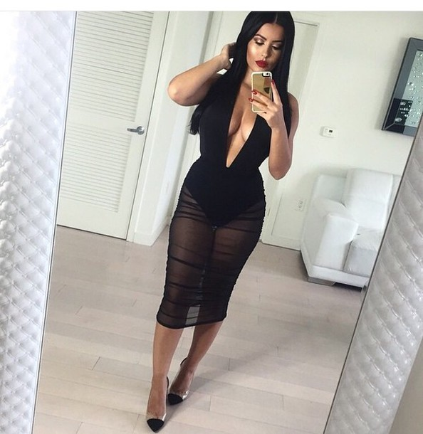 Skirt Bodysuit Jumpsuit Style Black Skirt Black Heels