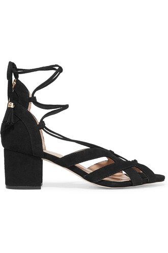 sandals suede black shoes