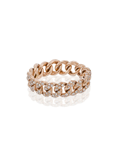 Shay rose gold rose women ring gold grey metallic jewels