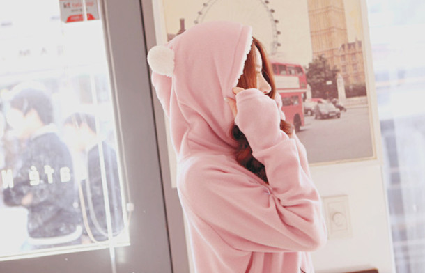 Jacket: kawaii, cute, kfashion, meow, cats, hoodie, fluffy, pink ...