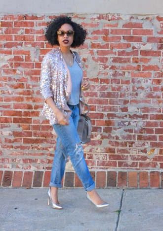 mattieologie blogger jacket jeans sunglasses shirt shoes bag