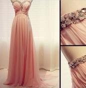 dress,formal,formal dress,coral,pale,gem,glamour,sparkle