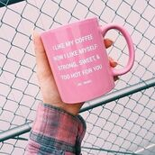 home accessory,mug,cute,pink,funny,girly,home decor,gift ideas