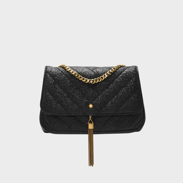 tassel bag shoulder bag black