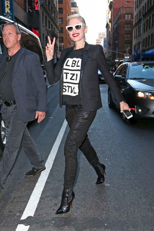 pants fall outfits gwen stefani black