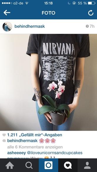 shirt nirvana t-shirt tee t-shirt band t-shirt grunge t-shirt