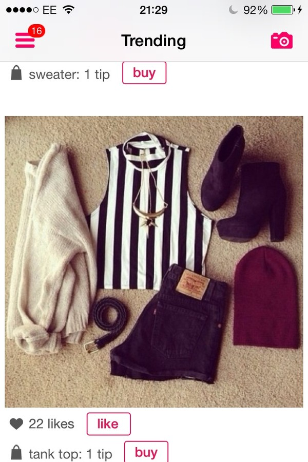 t-shirt shorts sweater shoes