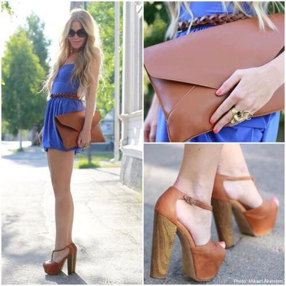 jeffrey campbell sunglasses bag clutch oversized envelope clutch envelope clutch leather bag brown leather outfits dress blue dress high heels belt summeroutfit