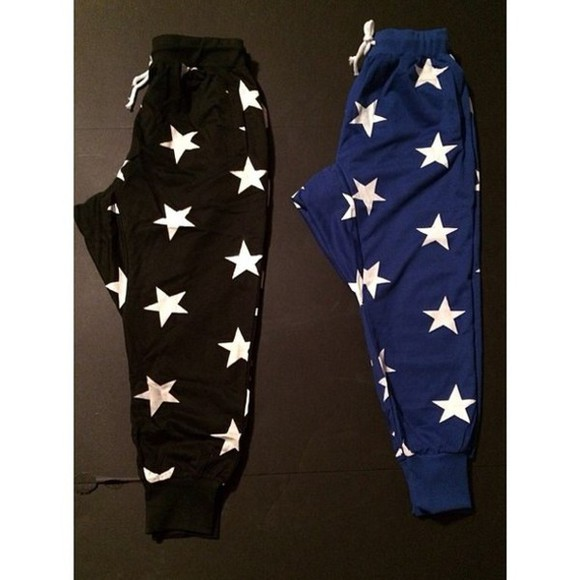 stars sweatpants dope