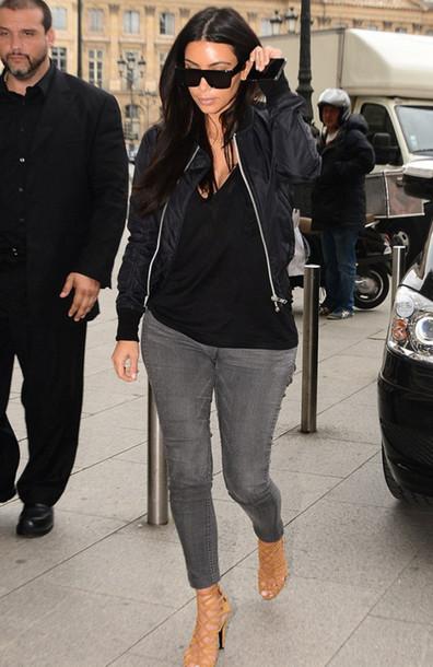 jacket kim kardashian jeans bomber jacket