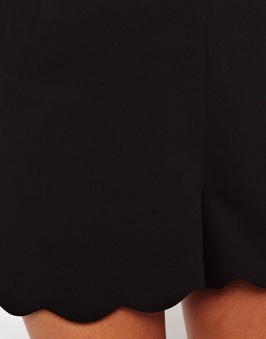 ASOS Shorts with Scallop Hem at asos.com