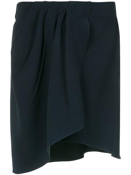 EGREY skirt wrap skirt women origami blue