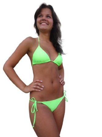 Amazon.com: In Gear Women's Neon Bikini: Clothing