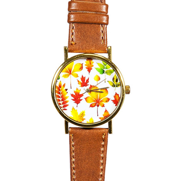 jewels fall outfits fall outfits leaves watch watch handmade etsy style