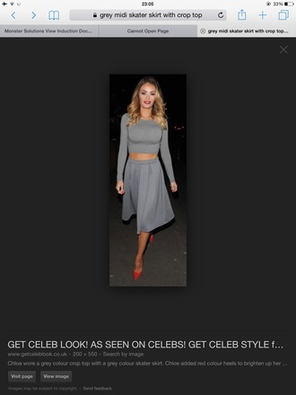 dress two-piece skirt chloe grey fashion love